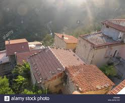 italy colabassa clay tile roofs of village houses this small