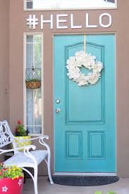 red front door to boost positive energy of your house brick blue