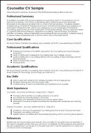 sample of key skills in resume counsellor sample example key