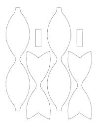 hair bow templates foam hair bow template κατασκευες hair bow
