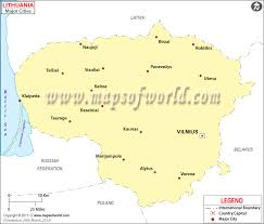 cities map lithuania cities map major cities in lithuania