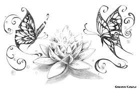 butterfly lotus search tattoos