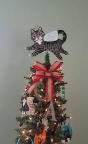 tabby cat angel cat tree topper christmas tree topper cat