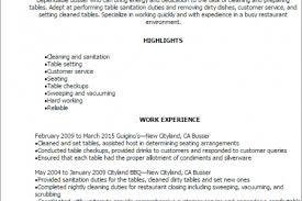 Restaurant Supervisor Resume Sample by Job Description For A Busser Resume Busser Resume Sample No