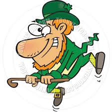 cartoon leprechaun dancing a jig by ron leishman toon vectors