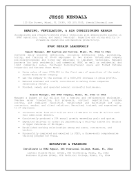 Hvac Resume Sample by Hvac Installer Objective Life And Physical Sciences Resume Example
