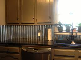 metal backsplash for kitchen corrugated metal backsplash home corrugated