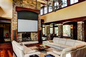 Look Inside A Great Room Home Theater Design And Installation CE Pro - Living room with home theater design