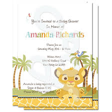baby shower invitations new lion king baby shower invitations