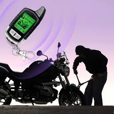 2 way lcd motorcycle scooter remote control alarm siren security