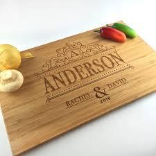 wedding cutting board cutting board personalized wedding gift monogram last name