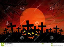 halloween jack o lantern in spooky graveyard royalty free stock