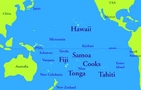 island on map south pacific islands and earthly paradise