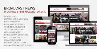 24h news broadcast news tv channel u0026 news magazine template