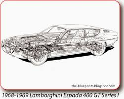 lamborghini front drawing 1969 lamborghini espada s ii related infomation specifications