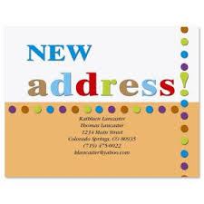 new address cards moving cards we ve moved postcards colorful