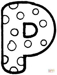 imagenes en ingles con la letra p dibujos de alfabeto inglés con diseños de lunares para colorear