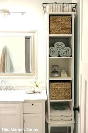 Storage Ideas For Small Bathrooms With No Cabinets Small Bathroom Storage Solutions Best Bathroom Storage Solutions