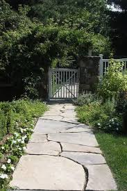 flagstone walkway landscape traditional with stone walk decorative