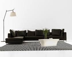 Contemporary Black Leather Sofa Contemporary Minimal Black Leather Sofa Stock Image Image 36640469