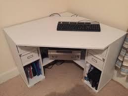 ikea corner desk with shelf units white borgsjo in newlands