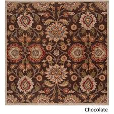 Square Wool Rug Hand Tufted Patchway Wool Rug 8 U0027 Square Free Shipping Today