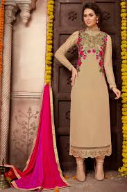 Imperious Beige Color Designer Embroidered Pakistani Style