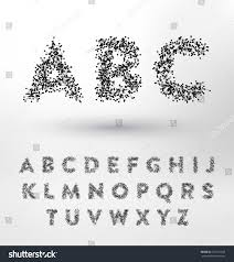 geometric type design set small connected stock vector 361331942