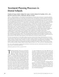 treatment planning processes in dental schools pdf download