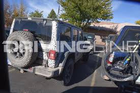 jl jeep exclusive spy photos of the 2018 jeep wrangler jl in moab utah