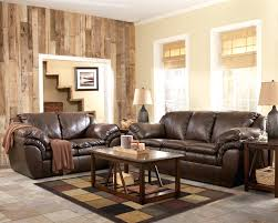 Leather Sofa Set Ashley Furniture White Sectional Brown gecalsa