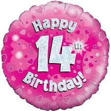 inflated balloon delivery happy 14th birthday pink balloon delivered inflated in a box with