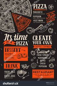 pizza food menu restaurant cafe design stock vector 607043159