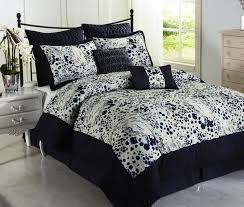Blue And Brown Bedroom Set Bedroom Navy Blue Comforter With Cool Pattern And Wooden Floor