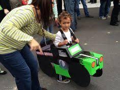 grave digger monster truck costume cardboard