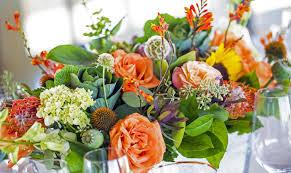 floral arrangement ideas orange flowers summer floral arrangements ideas for home