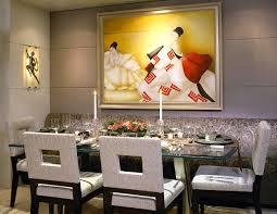 Dining Room Framed Art La Townhouse David M Plante Interior Design
