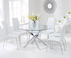 Glass Dining Table With 6 Chairs Glass Dining Table And Chairs Icifrost House