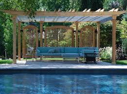 cover pergola from rain pergola with retractable shade canopy