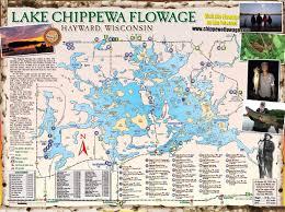 Wisconsin Dnr Lake Maps by Free Chippewa Flowage Lake Map Hayward Wi Vacations Desitinations