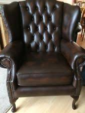 Leather High Back Armchair High Back Wing Armchair Ebay