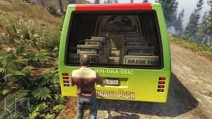 jurassic park car jurassic park tour bus gta5 mods com