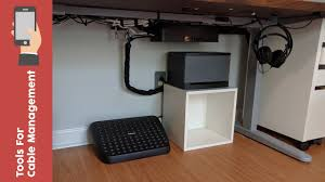 Cable Organizer Desk by A Few Useful Tools For Improving Your Cable Management Youtube