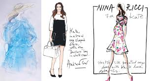 nicole miller maternity dress sketch archives what kate wore