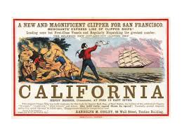 clipper ship california advertisement vintage ads gold rush