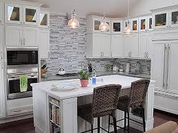 long view of remodeled washington dc kitchen shows original