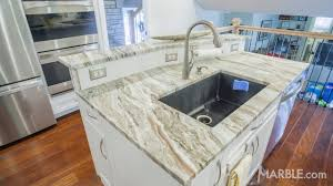 brown kitchen quartzite modern countertop