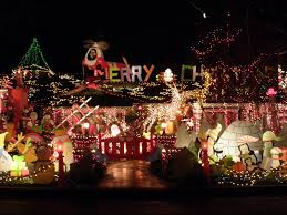 christmas decorations on houses rainforest islands ferry