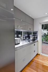 gray kitchen cabinets increasing modern and elegant interior