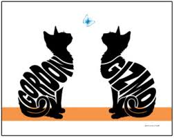 personalized cat gifts personalized cat with butterfly silhouette print framed cat